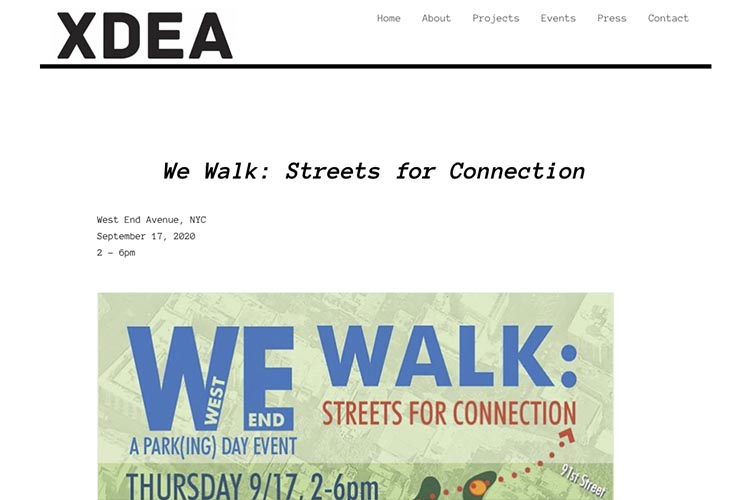 website design for an architect - single event page