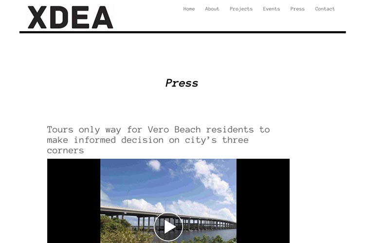 website design for an architect - press page