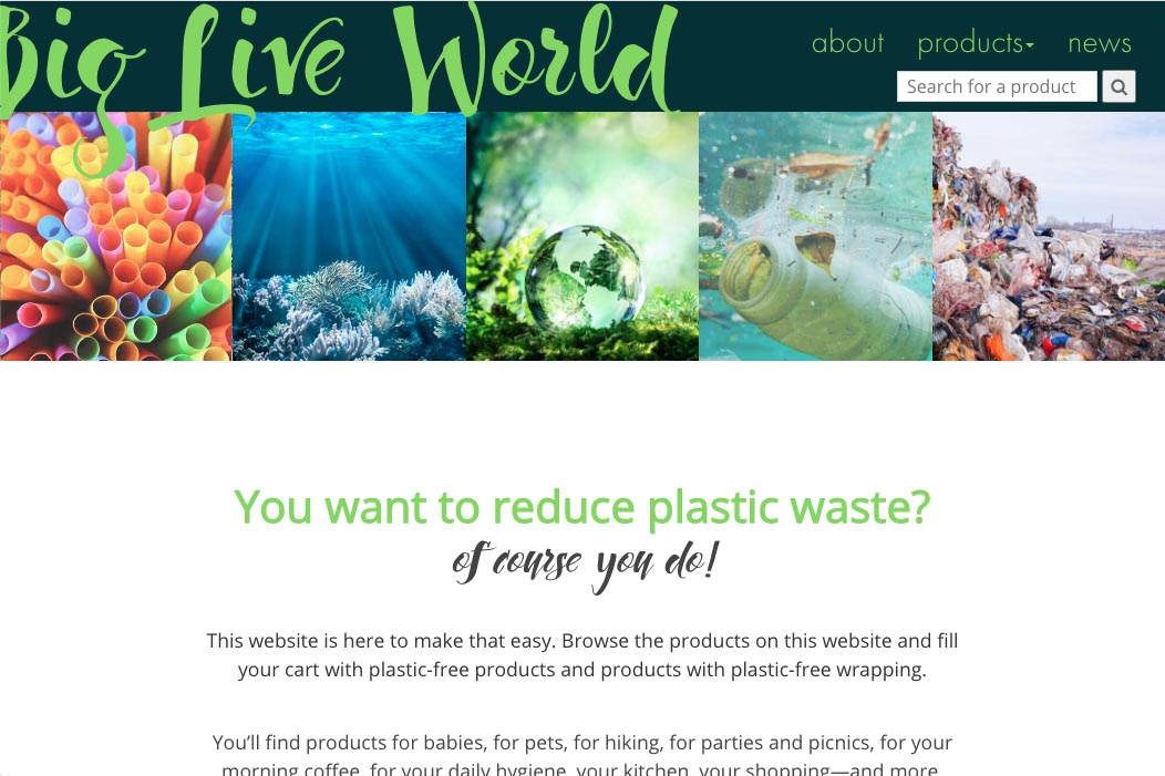 website design for plastic-free living