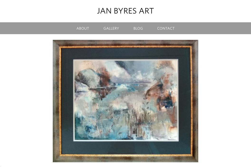 website design for an abstract landscape painter