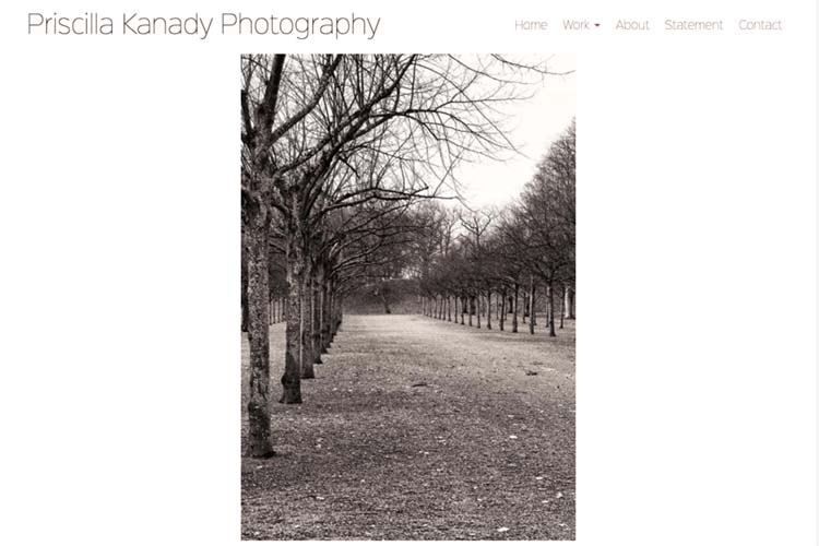 website design for a photographer