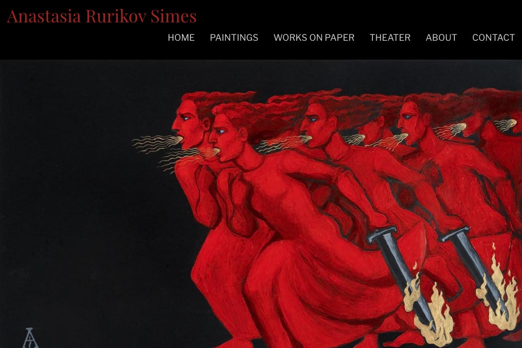 website design for an artist - Anastasia Rurikov-Simes