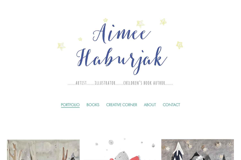 website design for artist illustrator author - home page
