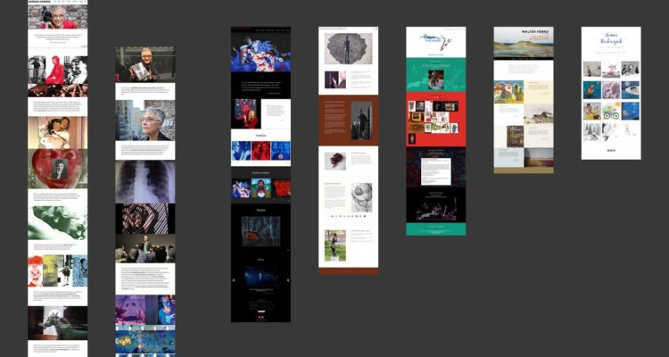 long-scrolling homepages for artists